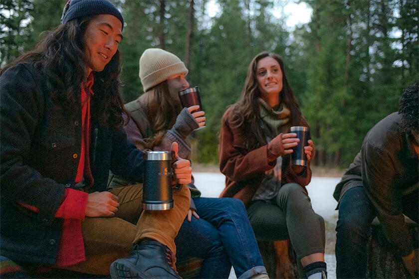 <p>With durable drinkware, such as insulated camp mugs and beer steins from Stanley, you will be sipping pretty (and functional) around the fire in your backyard all year long.</p>