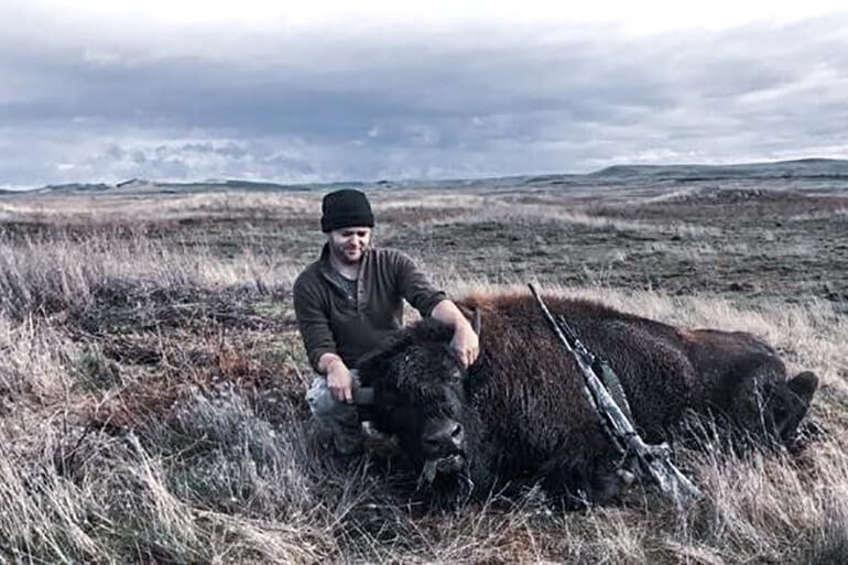 Bobby Bo with bison