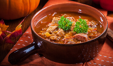 Help control the devastating wild hog population and enjoy the perfect taste of fall with this Boar Loin and Pumpkin Stew Recipe.
