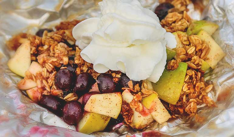 Campfire Apple-Blueberry Crisp Recipe