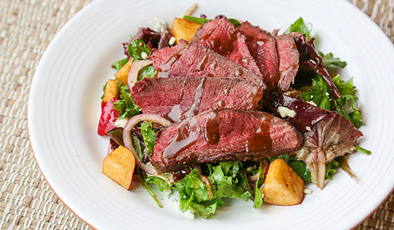 Canada Goose and Apple, Blue Cheese Salad with Balsamic Vinaigrette Recipe