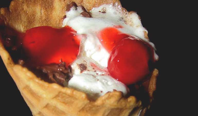 Cherry Pie S'more Cones Recipe