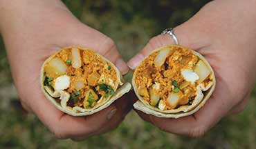 If you've got picky eaters at camp, make this Chorizo and Egg Breakfast Burritos Recipe ' each person gets to build their own.