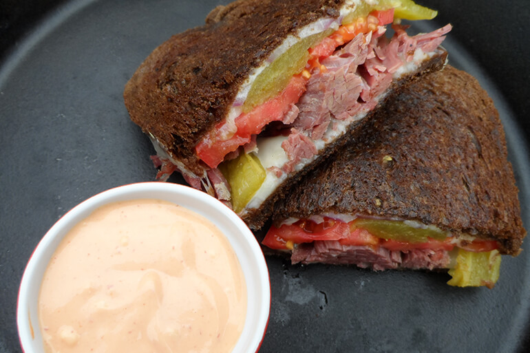 Corned Venison Sandwich Recipe with Spicy Mayo