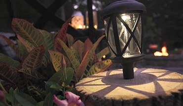 Give your patio a facelift with do-it-yourself solar lights.