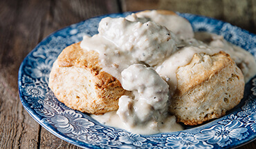 To start the day off right, either in a chilly duck blind or at home on a warm summer's morn, Major League Fishing pro Andy Morgan likes to whip up a batch of biscuits and gravy, duck hunter's style!