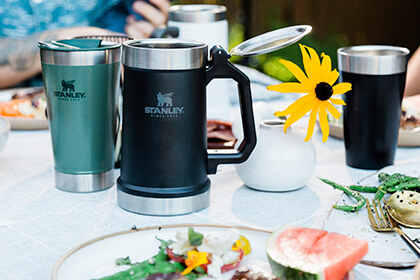 With a few simple recipes and the right gear, like cookware and drinkware from Stanley, you can easily plan a successful family brunch in your backyard this spring and summer.