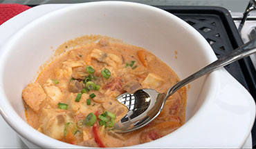 Make this fast, easy and delicious African-Style Fish Stew Recipe at home or camp.