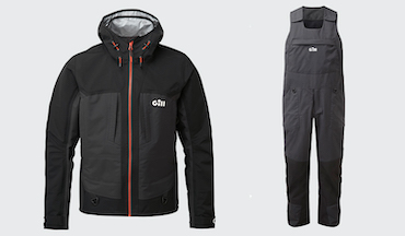 Gill's new rain suit offers a dry day on the water at any speed.
