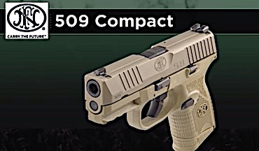 The new FN 509 9mm pistol - available in black and FDE - packs full-size performance in concealed-carry size.