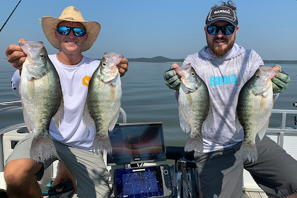 'Live-scoping' a new way to catch big white crappie on Mississippi's Grenada Lake.