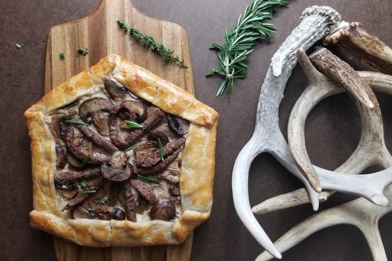 Venison & Mushroom Galette Recipe