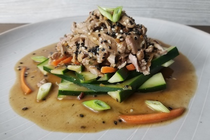 This wild-game take on a Chinese dish features a Minnesota cottontail.