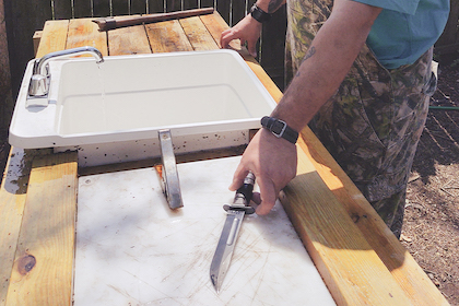 You can be backyard ready by building your own customized cleaning station. Here's how.