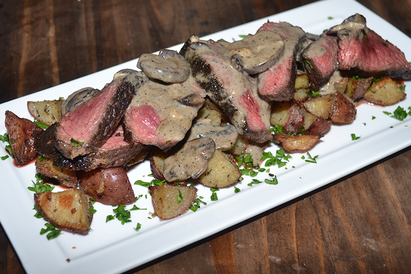 Venison Backstrap Steaks with Mushroom Cream Sauce Recipe