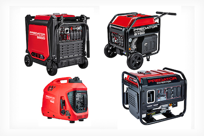 Quick look at new Predator generators from Harbor Freight Tools.