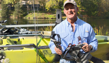 The Hobie MirageDrive 360 pedal propulsion system is the pinnacle of kayak control with more efficient fin designs, glide technology and allows the boat to be moved in any direction.