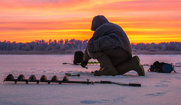 The weather may be frightful, but the ice fishing is so delightful on these lakes in the depths of winter.