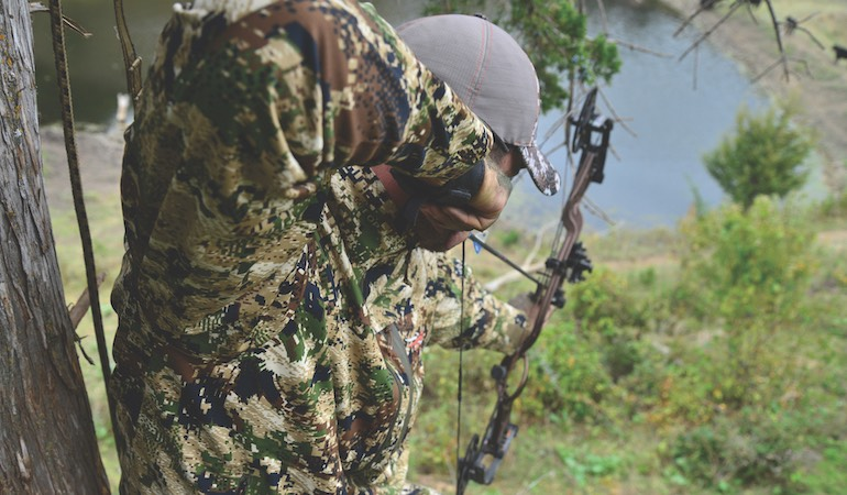 Executing a sharply angled shot is one of the toughest assignments in bowhunting. Here is how to ace it.