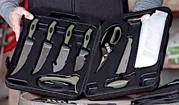 The Camp Kit and Lightweight Field Dressing Kit, and a replaceable-blade series are highlighted.