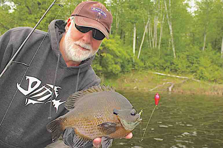 The warmest water always points to the greatest concentrations of crappie, bluegills & more.