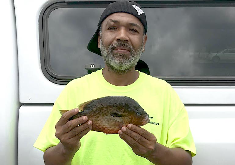 N.C. man breaks 36-year-old record for redbreast sunfish.