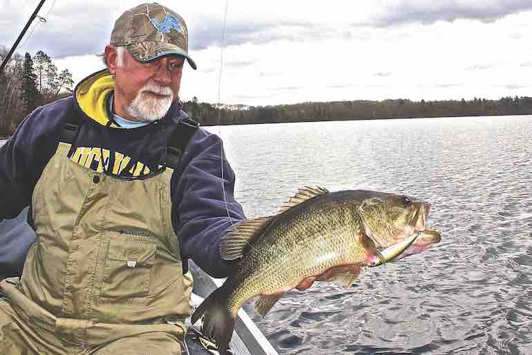 Tie one on this spring to tempt sluggish bass in cool waters.