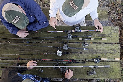 Which rods were the Editor's Choice and Great Buy winners in Game & Fish's annual fishing gear reviews?