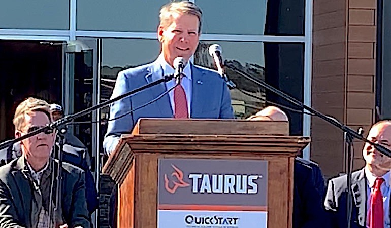 Governor welcomes gunmaker (and 300 jobs) to the Peach State.