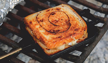 You can make this Grilled Cinnamon, Apple and Brie Sandwich Recipe for lunch or dessert!