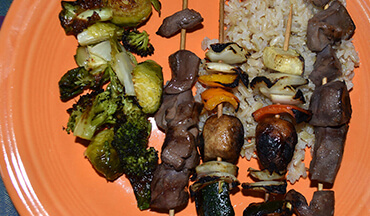 Deer heart is packed with vitamins and nutrients and is especially tasty in this grilled venison kebabs recipe.