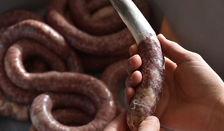 making-smoked-venison-sausage