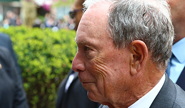 Billionaire gun control crusader Michael Bloomberg must have done some fall house cleaning and discovered spare change between the sofa cushions.