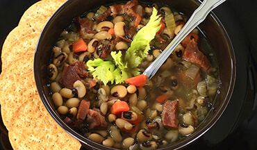 This Black-Eyed Pea dish is sure to bring good luck and prosperity for the coming year.