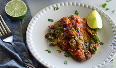 This super quick and easy recipe for Catfish Veracruz is low carb, keto friendly and packed with amazing, spicy south-of-the-border flavor.