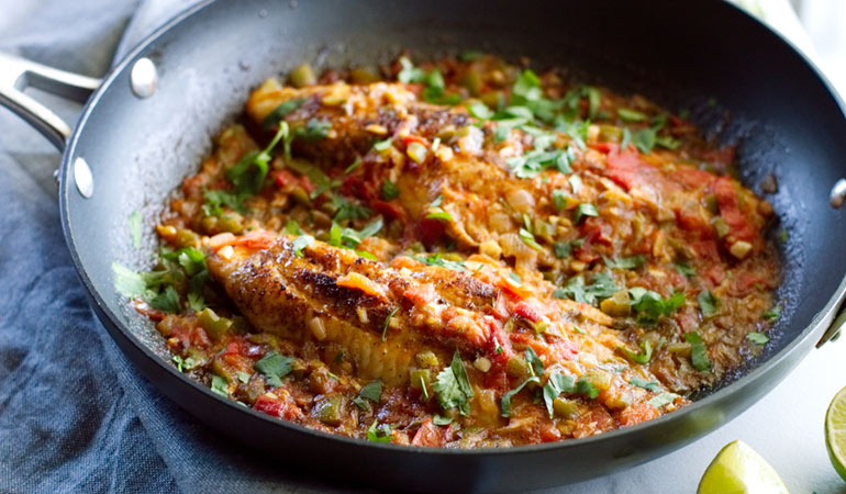 quick easy catfish veracruz recipe skillet