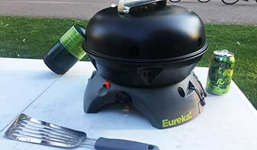 With the Eureka! Gonzo Grill, you can grill your catch of the day, boil a side of rice, and saute veggies on the cast-iron skillet, all in one cook system