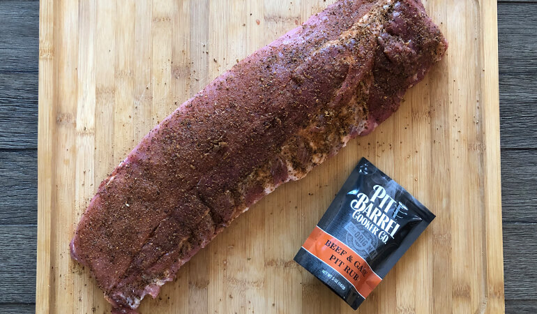 ribs with Beef and Game Pit Rub