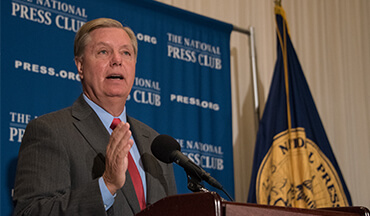 NSSF joined U.S. Senator Lindsey Graham (R – S.C.) at Palmetto State Armory, in Greenville, S.C., to commend him for his commitment to Real Solutions for Safer Communities.