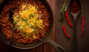 This hearty venison chili is filled with a blend of full-bodied flavors and spices.