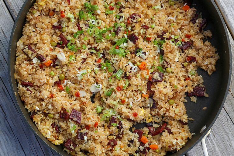 Teriyaki Beef Jerky Fried Rice Recipe