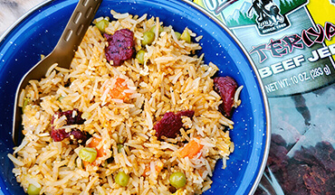 Prepare something a little different at deer camp by making this great-tasting Teriyaki Beef Jerky Fried Rice Recipe in just a few steps.