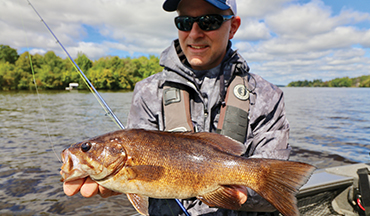 Bass anglers have two compelling options at this time of the year: go deep for smallmouths or move shallow for largemouths.