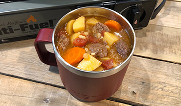 Keep your camping crew well-fed with this hearty Venison and Barley Stew Recipe that is conveniently made in a CanCooker.