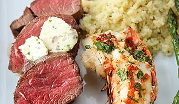 Prepare this surf and turf dish to wow any person on a special occasion.