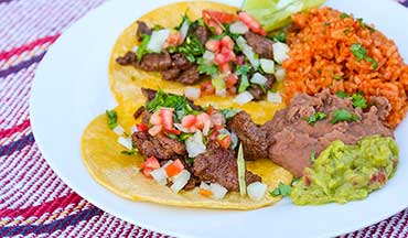 Washing this Venison Street Tacos With Mexican Rice and Beans Recipe down with a good Mexican beer or margarita is a must.