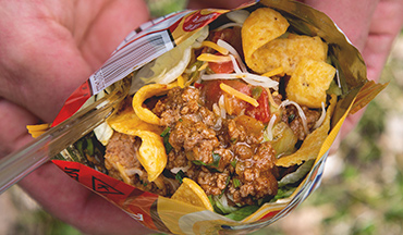 This walking tacos recipe is a great on-the-go lunch when you're on an RV adventure.