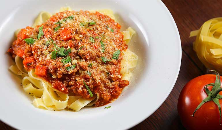 Wild Turkey Bolognese Sauce With Pasta Recipe