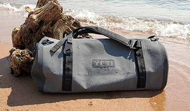 Waterproof and fully submersible, the Yeti Panga Duffel is a great dry bag to store gear in for offshore fishing, camping, and everything in between.