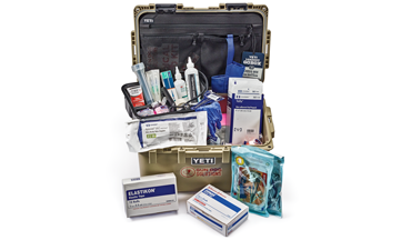 Have the best of in-field emergency supply kits for your bird dog.